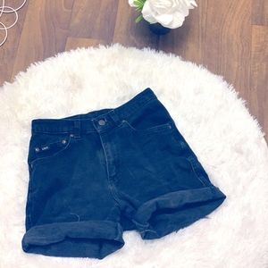 LEE JEANS DISTRESSED HIGH WAISTED JEANS